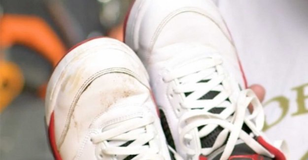 Quick trick that will make your sneakers white again