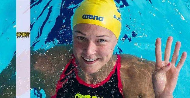 Sarah Sjöström won after sickness
