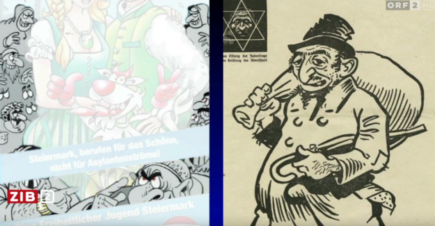 Scandal after comparison of right-wing Cartoon with a striker-drawing