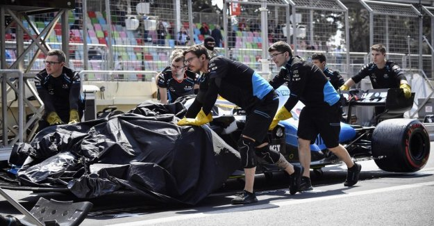Scandal of the F1-training – manhole cover destroyed the car