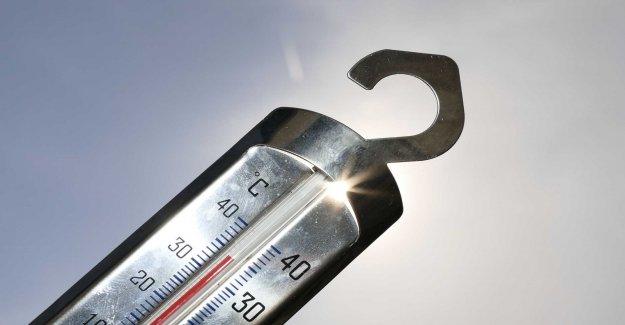 Sharp increase in temperature in Sweden