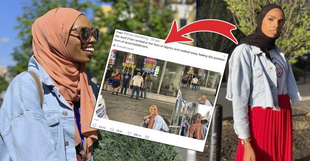 She takes the battle against islamophobes– with a smile on your face