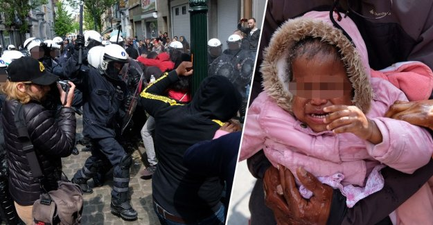 Situation escalates to Schaerbeek school, the police put the tear gas in