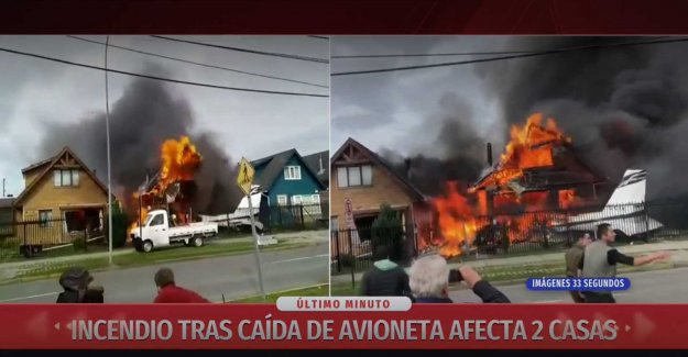 Six dead after the aircraft crashed into the villa