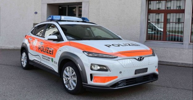 St. Gallen Canton police with electric cars on patrol