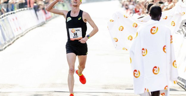 Straight through Bruges is the first contest Koen Naert after a successful marathon in Rotterdam