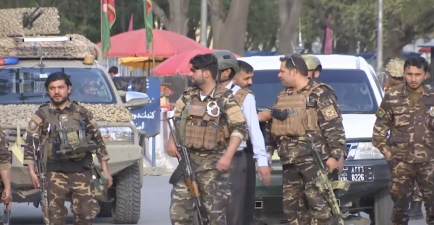 Suicide bombing and gunfire shakes central Kabul