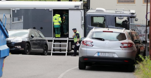Suspicious object in the industrial area in Gothenburg, sweden