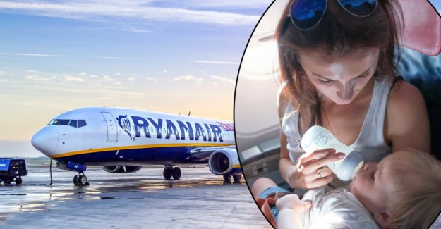 Test Purchase not to speak of the babytarief' of 25 euros with Ryanair