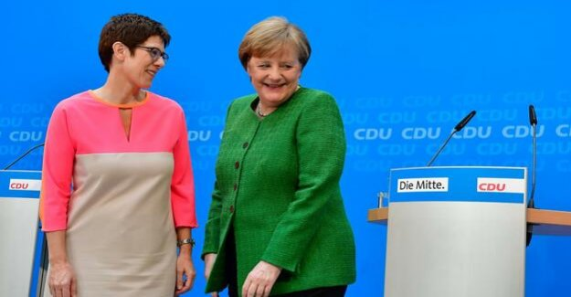 The CDU in the European elections : Merkel makes Kramp-Karrenbauer precedence