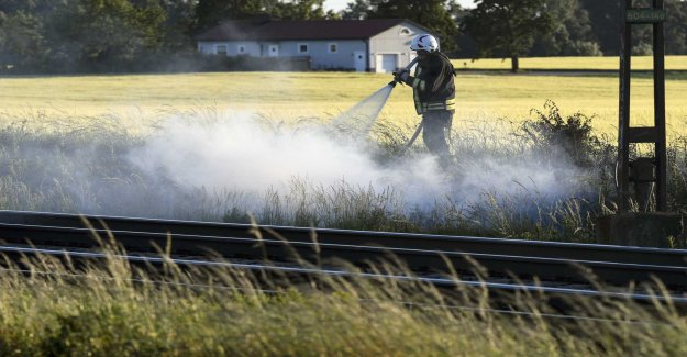 The Risk of grass fires in the south of Sweden
