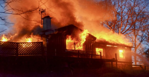 The Villa and the garage was swallowed by the flames