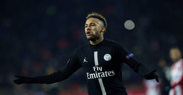 The end with the long break: Neymar ready to party