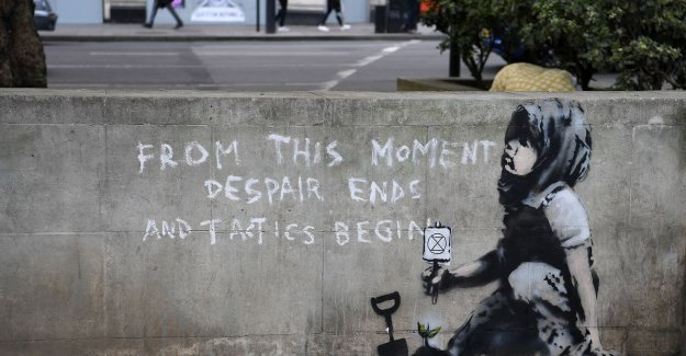 The existence of Banksy himself behind klimaatbeweging with this new work in London?