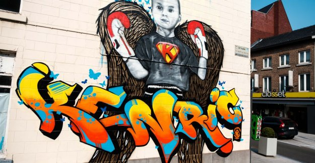 The fight against cancer, he had to give up, but Kenric (5) is not forgotten: beautiful mural honors beautiful boy