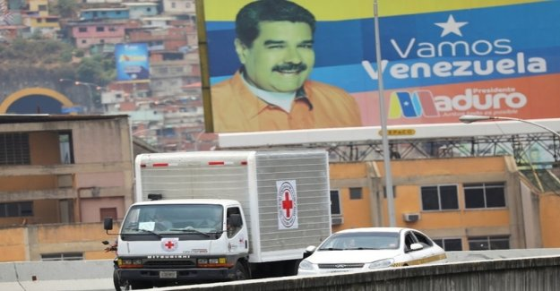 The first delivery of aid to the Red cross reached Venezuela