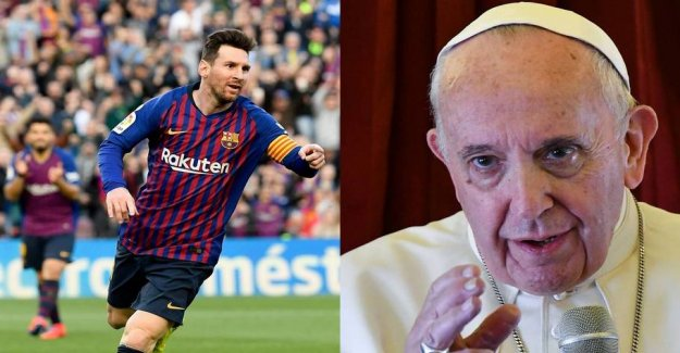 The pope said: Lionel Messi is not God