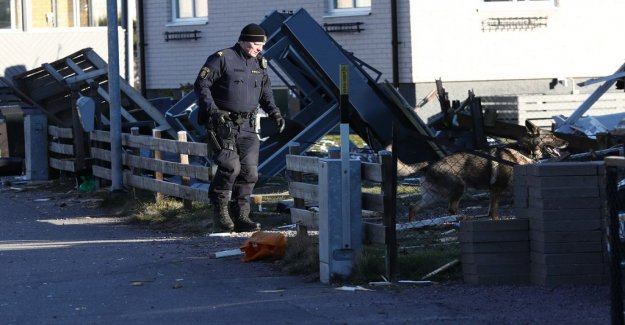 The strong explosion on the villatomt in Motala