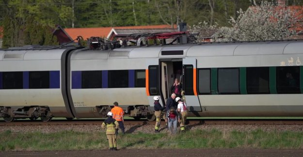 The train was evacuated after the crash — train driver injured