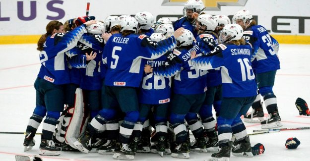 The united states won the world CHAMPIONSHIP gold medal, Finland managed to celebrate after the domarkaos