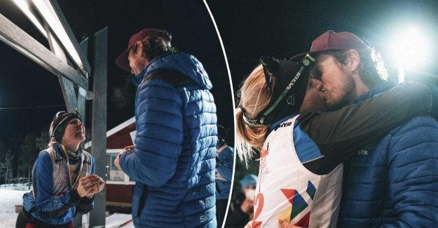 Therese, 35, proposed marriage at the finish line – after the extreme ski races