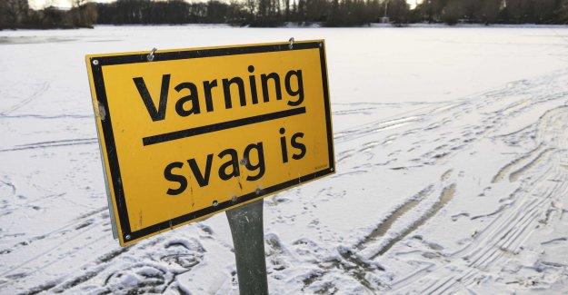 Through the ice in Falun