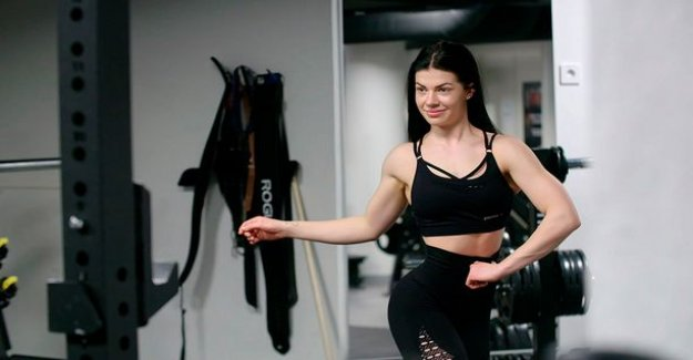 Today on tv: 18-year-old Pernilla Böckerman preparing for a bikini fitness competition for the former contender to warn species of the danger of