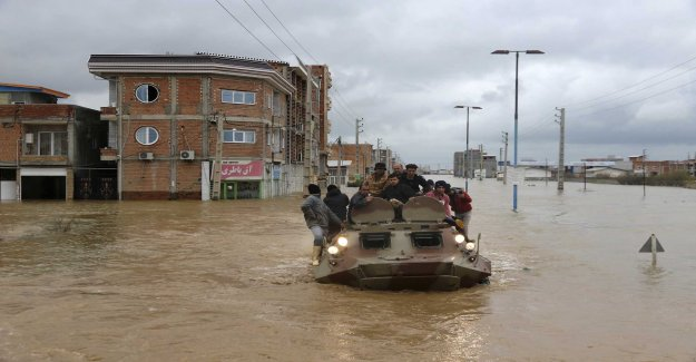 Towns evacuated after floods in Iran