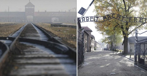 Tried to steal the piece of railway line at Auschwitz