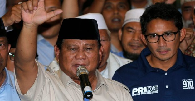 Two candidates declaring victory in Indonesia