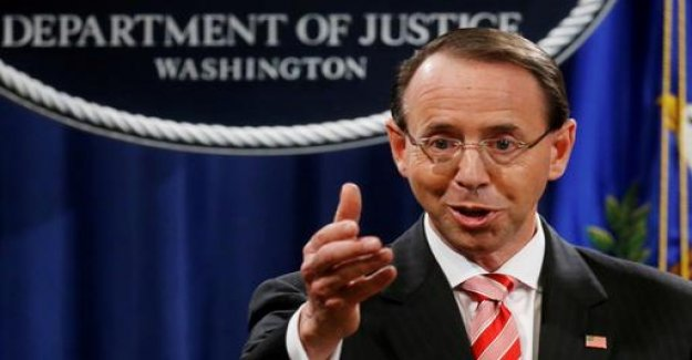 US Vice-Minister of justice, Rosenstein submits resignation