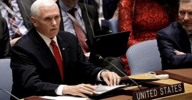 US Vice President Pence Venezuela in the security Council threatens to