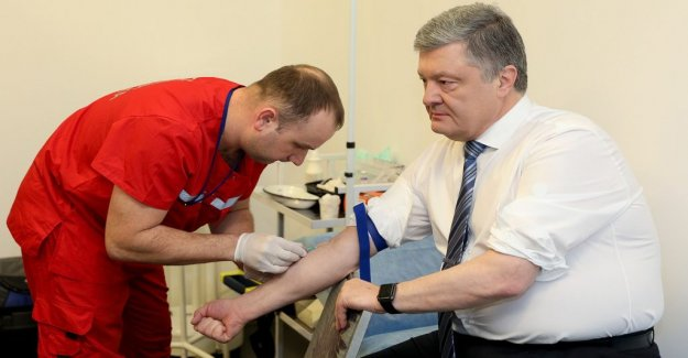 Ukrainian presidential candidates are challenging each other in drug testing and arm strength