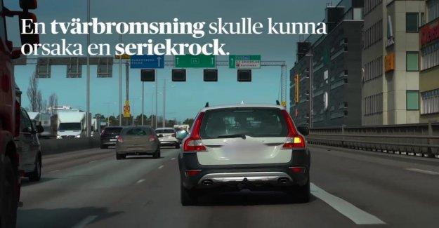 Volvobil autobromsar without reason on the Essingeleden