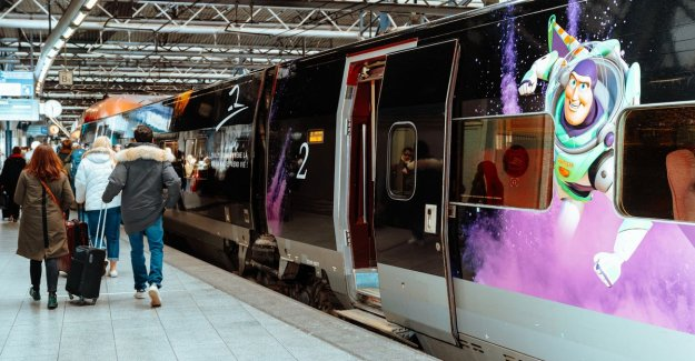 We rode with the first direct Thalys train to Disneyland Paris