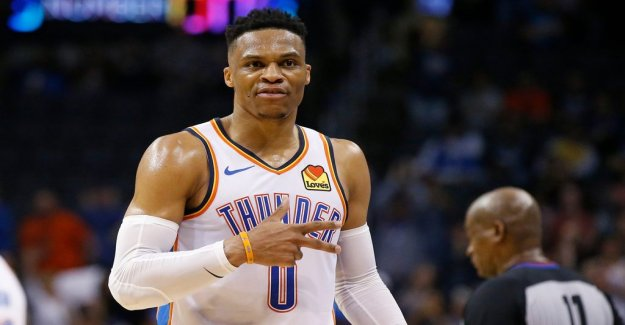 Westbrook historical in the NBA with the 20-21-20