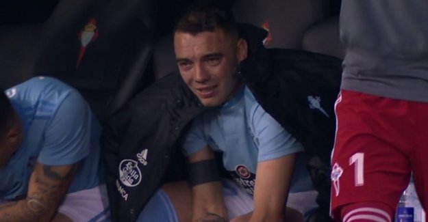 What can football be beautiful: tormented spire cries tears after his team to a vital victory helps