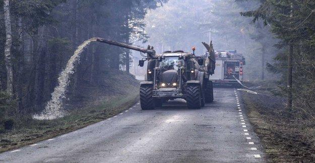 Without deltidsbrandmän burning the forests up