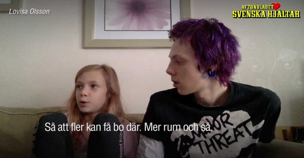 10-year-old Lovisa has collected the 40000 crowns