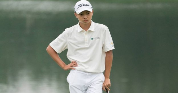 14-year-old sensationally ready for the finals of the big golf tournament