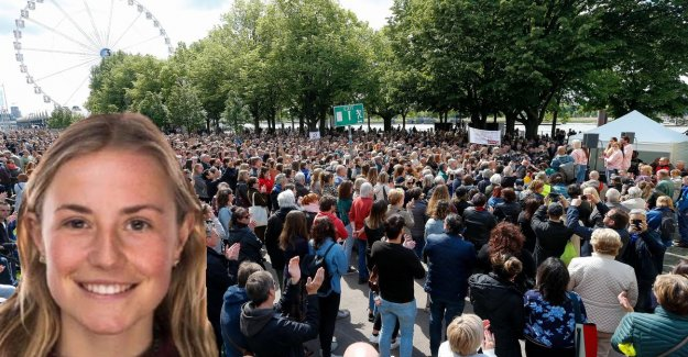 15,000 participants for a silent march after the murder of Julie: Hopefully, mars is a clear signal to policy