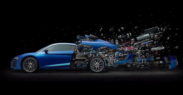 Audi celebrates tenth anniversary V10 with 'exploding' engine