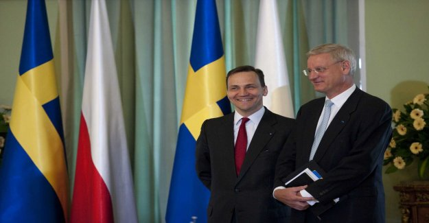 Bildt in Brussels when the EU is celebrating the collaboration with the east