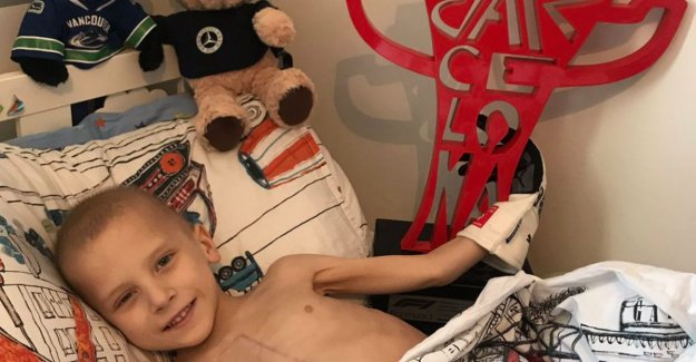 Donations poured in for the very ill Harry (5) that F1 car was Lewis Hamilton