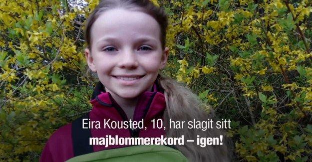 Eira, 10, hit a record – sold majblommor for 27 000