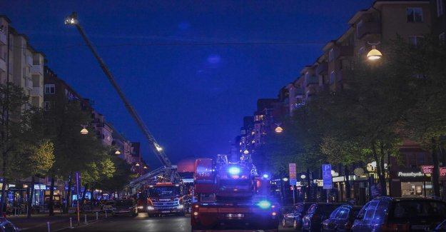 Fire in apartment block in Stockholm