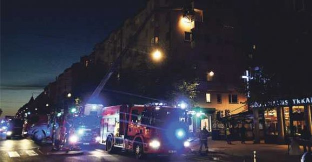 Fire in apartment block in central Stockholm