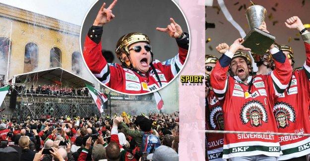 Frölunda was hailed by thousands of fans in Gothenburg, sweden