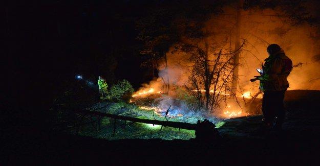 Heavy fire in småland Ruda