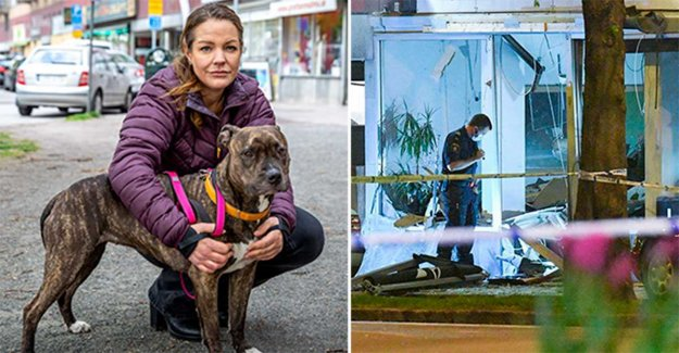 Helena was out with the dog Smulan – was injured in the bombings